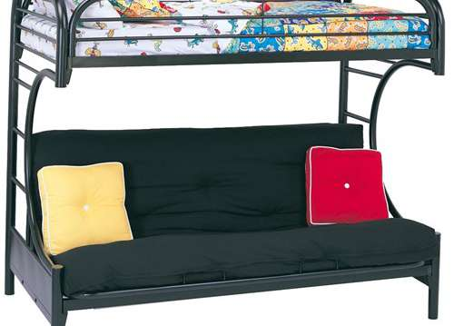 TWIN OVER FUTON BUNK BED