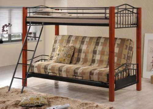 COASTER TWIN OVER FUTON BUNK BED