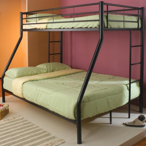 COASTER TWIN FULL BUNK BED